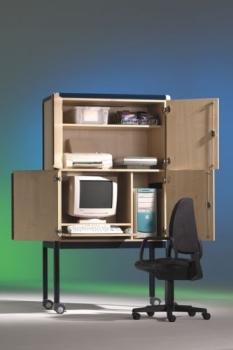 kindergartenm bel und schulm bel online kaufen edv schrank alu fahrbar roki. Black Bedroom Furniture Sets. Home Design Ideas