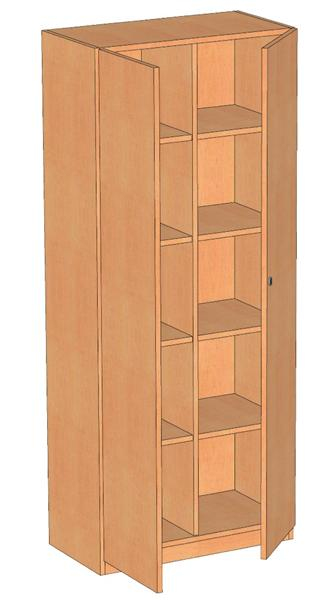 kindergartenm bel und schulm bel online kaufen schrank mit 2 t ren roki. Black Bedroom Furniture Sets. Home Design Ideas